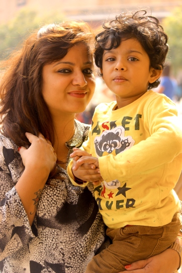 Suhaan with Mommy