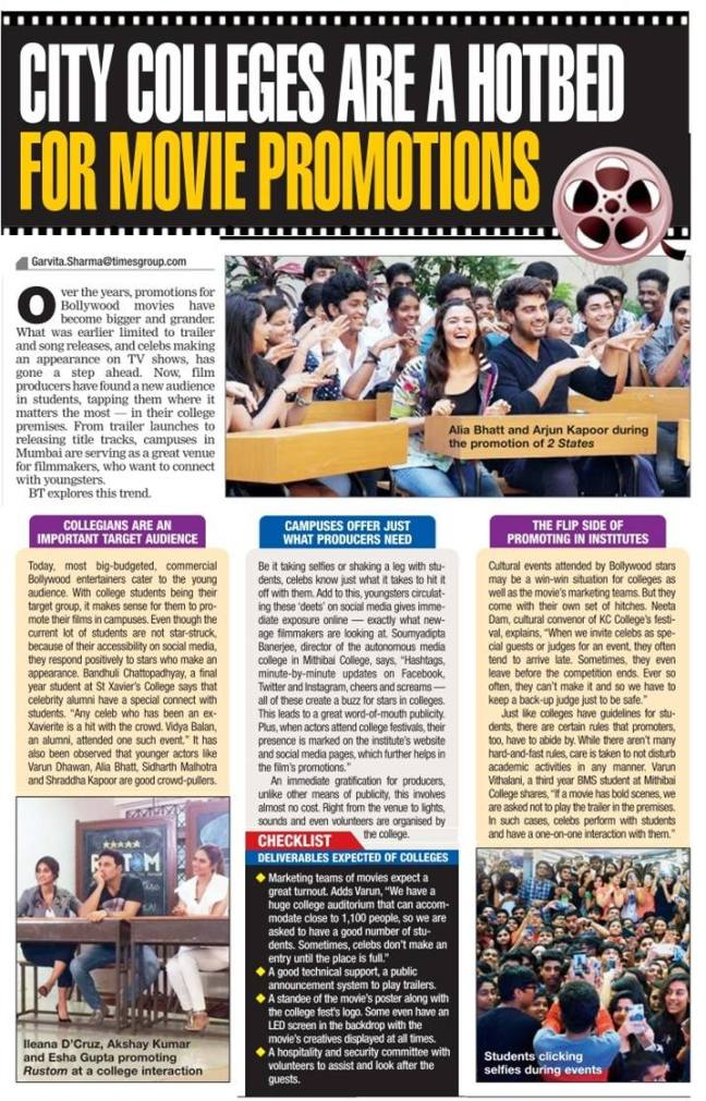 Bombay Times article