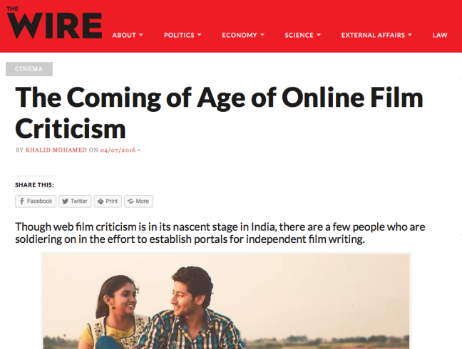 The mention of BollywoodJournalist in Wire.in